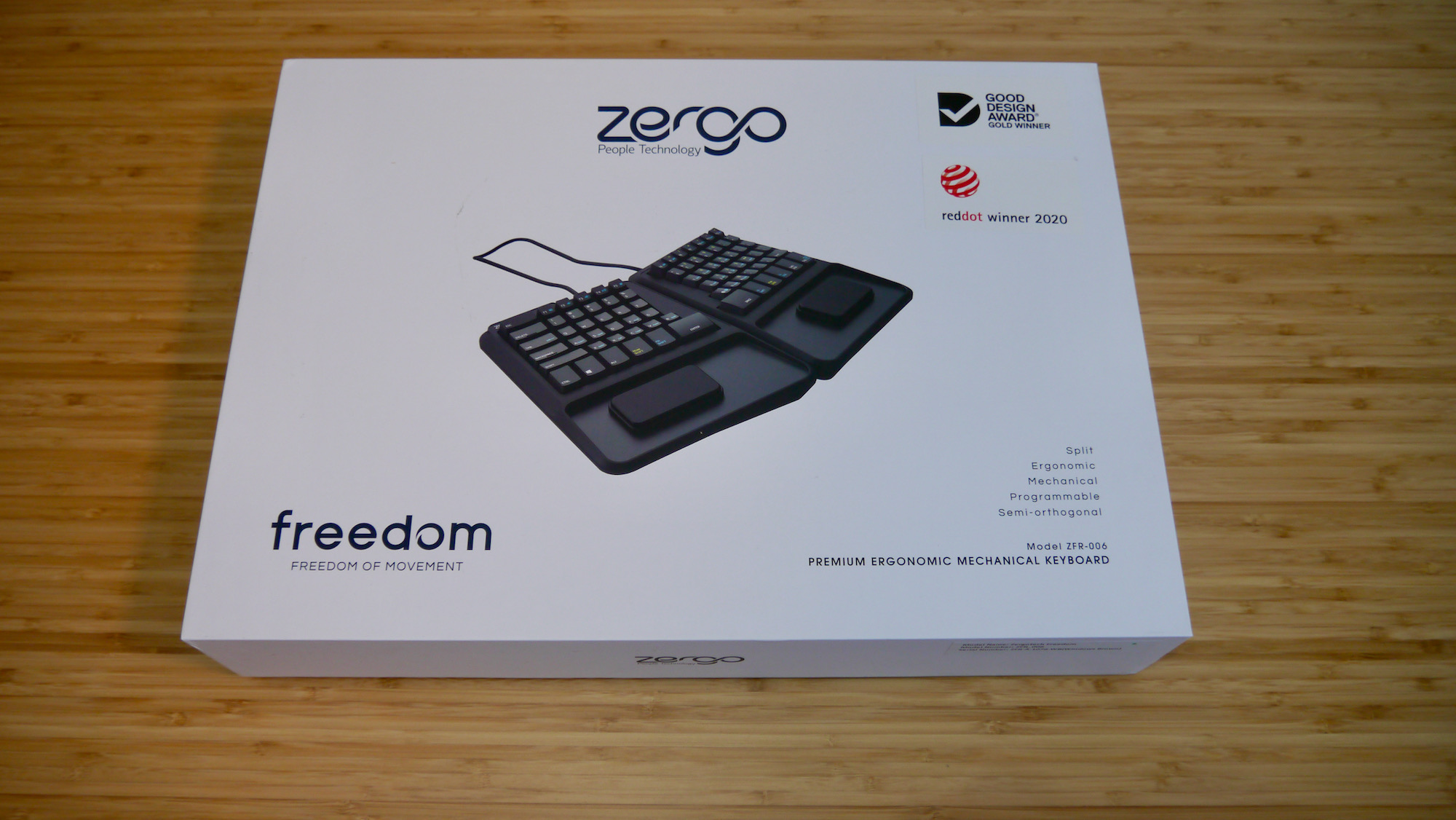 Packaging of the Zergotech Freedom