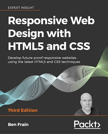 Book cover of Responsive Web Design with HTML5 and CSS, Third Edition